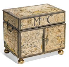 A Charles II silk embroidered casket, English, third quarter 17th century | Lot | Sotheby's. veiling okt. 2014 6000 pond