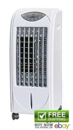 SPT Portable Evaporative Air Cooler w/ Ultrasonic Humidifier White Cooling Fans #SPT