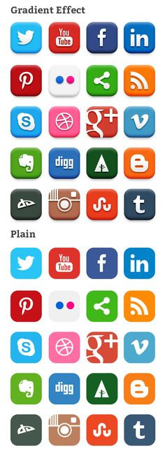 20-social-media-icons  .. License: Royalty-free, Free for personal and commercial use  Download Social Media Icons PSD & PNG
