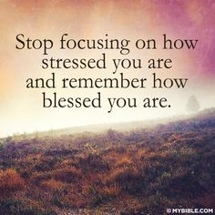 Stop focusing on how stressed you are and remember how blessed you are. Motivational Quotes, Funny Quotes, Inspirational Quotes, Random Quotes, Quirky Quotes, Great Quotes, Quotes To Live By, Awesome Quotes, Happy Thoughts