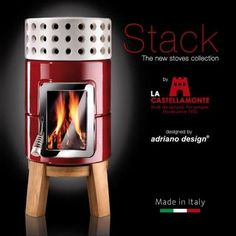 Stack ceramic stoves collection by La Castellamonte and Adriano Design | Catalogue 2012.