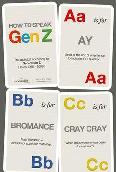 how to speak generation Z #generationZ #generationC