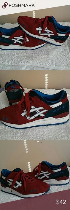 Asics Gel-Lyte III....EXCELLENT CONDITION! Shoes worn 5 times and in near new shape and condition. Soles and leather plus insoles are in perfect shape. A must see and buy. Price is reduced to clear. A 200% Authentic Asics product. Asics Shoes Sneakers