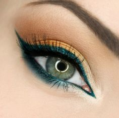 Rust and petrol blue  #eye #eyes #makeup #eyeshadow #dramatic #bright