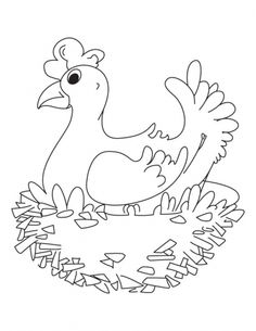 My Sweet Home Hen Coloring Pages