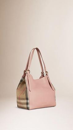 Pale orchid The Small Canter in Leather and House Check - Image 1