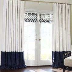 Custom Luxury Bordered Linen + Linen Custom Drapery on Sale | DrapeStyle | 800-760-8257