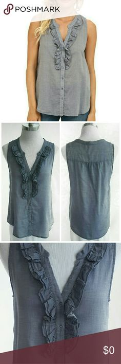"""JOIE Ruffle Tank Joie ruffled Tank in excellent condition.  Size Small. 17"""" Bust. 23"""" Length.  100% Cotton.  Dry clean. Great for layering in colder months!   Thanks for visiting! Happy Poshing! Joie Tops"""