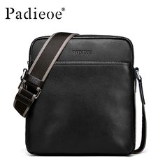 58.24$  Buy here - http://ai8fi.worlditems.win/all/product.php?id=32794398896 - Padieoe High quality genuine leather man handbags fashion designer crossbody bags casual cowhide leather messenger Shoulder bags