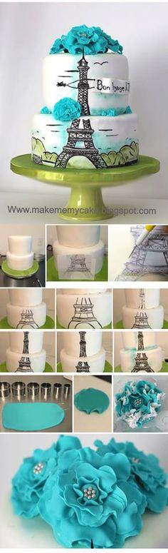 http://makememycake.blogspot.fr/2013/05/how-to-hand-paint-cake.html