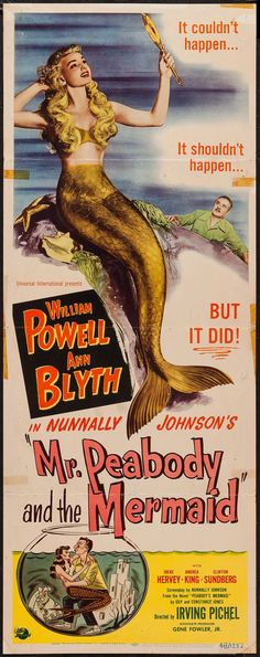 """Movie Posters:Comedy, Mr. Peabody and the Mermaid (Universal International, 1948). Insert(14"""" X 36""""). Comedy.. ... Image #1"""