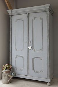Vintage Painted Wardrobe - furniture