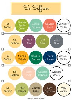Color of the Week - So Saffron - Mackenzie Makes