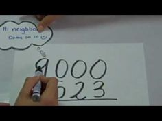 """Subtraction Across Zeros """"Go Next Door"""" - YouTube I thought it was cute.  Kids might not like the music, but every trick helps!"""