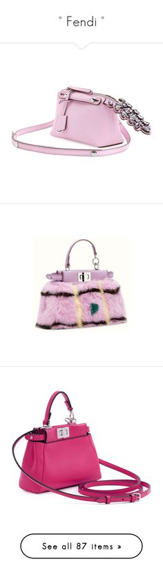 """° Fendi °"" by marcellamic ❤ liked on Polyvore featuring bags, handbags, fendi, totes, сумки, mini crossbody purse, leather crossbody handbags, leather tote handbags, crossbody handbags and pink leather purse"