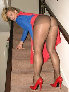 Can Joanna polish girl in sexy black pantyhose apologise, but
