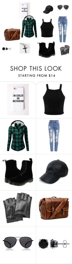 """""""Zombie apacolypse ready"""" by tori-esmay on Polyvore featuring Missguided, Miss Selfridge, J.TOMSON, Dr. Martens, Vianel, Karl Lagerfeld, Brixton, The Row, BERRICLE and Trend Cool"""