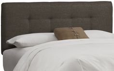Amazon.com - Skyline Furniture Tufted Headboard, King, Linen Grey -