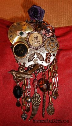 Steampunk Sass Brooch 2 by MistressRae13 on Etsy, $25.00