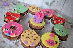 Shopkins cupcakes by Magda's Cakes