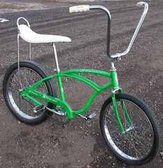 I'm thinking this may have been my first bike. It was green, it was a Huffy & I was SO surprised!!!