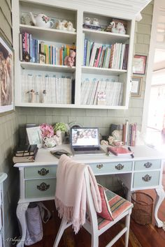 I finally have a home office! And it suits my romantic heart...check out my serene setting for dreaming, creating, planning and scheduling...A Delightsome Life