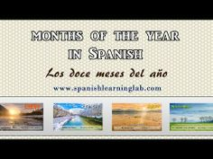 "#Spanish months of the year: pronunciation + useful phrases. ¡Hola! This video is part of a free lesson about months of the year in Spanish. Hope you enjoy practicing ""Los meses del año"". :)"