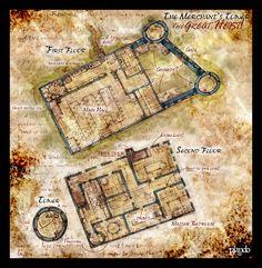 "Floorplan of a merchant's haall & home (""Merchants's Hall"" by Stormcrow135)"