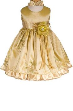 AMJ Dresses Inc Gold Infant Flower Girl Wedding « Dress Adds Everyday