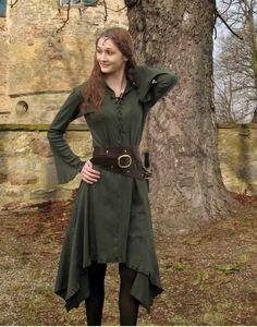 KOSTÜMTRUHE   Verkauf & Versandhandel, mittelalterliche Kleidung, Kostüme & Gewandungen, Zubehör aus Ritterzeit und Piratentum - Elfenkleid Sweater mit Kapuze lang