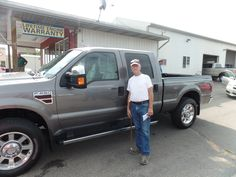 Congratulations to George on his purchase of a new Ford F250! We really appreciate the opportunity to earn your business and hope you and Rosemary enjoy your new truck!