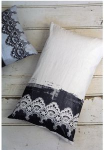 Lace Print cushion by Emily Naismith. Simply stunning.