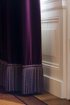 Villa in Baarn - Doornebal Interiors Pink Curtains, Door Curtains, Curtains With Blinds, Curtain Styles, Curtain Designs, Dedar Fabric, Rideaux Design, Custom Drapes, How To Make Curtains