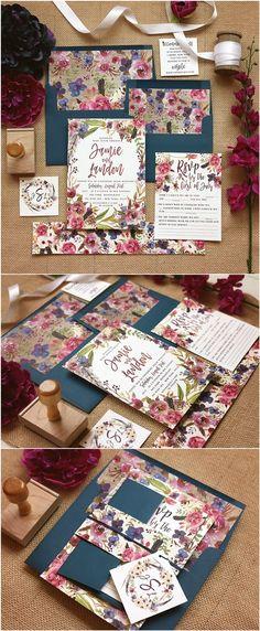 Rustic Floral Autumn Printable Suite / http://www.deerpearlflowers.com/rustic-wedding-invitations-etsy/