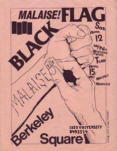 Casi todos los flyers de Black Flag que hizo Raymond Pettibon