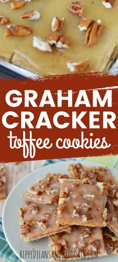 dessert recipes 227502218665609126 - These Toffee Graham Cracker Cookies are Yummy, crisp, nutty and best of all, ridiculously easy. Source by jeansbifocals Biscuits Graham Dessert, Graham Cracker Dessert, Graham Cracker Toffee, Graham Cracker Recipes, Graham Cracker Cookies, Recipes With Graham Crackers, Toffee Cookies, Toffee Bars, Yummy Cookies