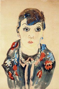 Marie Max - Raoul Dufy, 1927. Watercolor.
