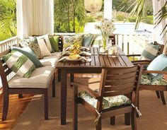 Image Result For Pottery Barn Outdoor Dining Image Blue | Nova Plan 2  Farmhouse Fresh | Pinterest