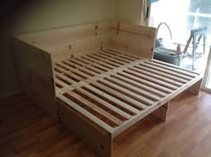 Pull Out Couch Bed. This awesome photo collections about Pull Out Couch Bed is available to save. Diy Sofa, Rv Sofa Bed, Futon Mattress, Futon Bed Frames, Bed Slats, Pull Out Bed Couch, Fold Out Beds, Pallet Furniture, Yurts
