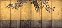 桜花図屏風,酒井抱一,19th century,Japan