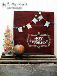 Joy to the World Christmas Wood Sign