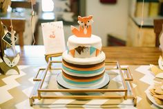 Fox Themed Baby Shower for the Fall Season - On to Baby