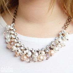Pearl And Diamond Statement Necklace #fashion #style #pearls #chic #glam #statementnecklace - 22,90  @happinessboutique.com