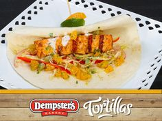 Get a handle of your unique flavour combinations with a Grilled Salmon and Citrus Dressing Wrap. Lets get wrapping! @Dempster's® Bakery #WrapItUp