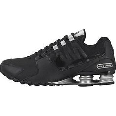 6b7836063c2cc Nike Shox Avenue Mens 833583-001 Black Silver Athletic Running Shoes Size 13