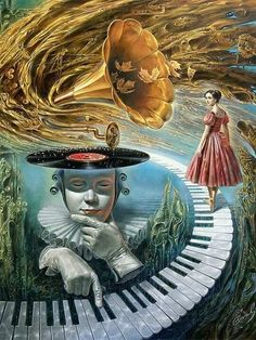 DUZO GRAFIK painting surreal 25 Absurdity Illusion Paintings by Michael Cheval - Master of Imagination Illusion Paintings, Illusion Art, Surrealism Painting, Painting Art, Art Paintings, Art And Illustration, Art Inspo, Ouvrages D'art, Fine Art