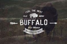 Buffalo Hot Wings logo template - Creative Market