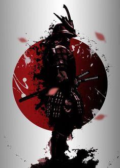 Japanese Tattoo Art, Japanese Tattoo Designs, Japanese Art Modern, Traditional Japanese, Samurai Warriors Anime, Samurai Anime, Afro Samurai, Arte Ninja, Comic Art