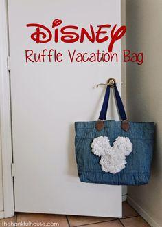 The Hankful House: Disney Ruffle Vacation Bag! So cute!! #disney #monthofdisney #diy