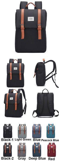 Leisure Square Frosted Splicing Travel Bag Belt Metal Lock Flap School Backpack for big sale! #leisure #square #frosted #backpack #bag